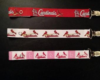 St. Louis Cardinals Pacifier Clip - Pick Your Favorite