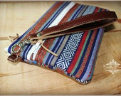 On the go wristlet - Peruvian wristlet - Navajo wristlet - South Western wristlet bag - Wallet wristlet