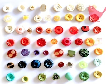 Vintage Button 9 - over 50 pieces