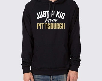 Just a Kid from Pittsburgh Penguins Pullover Hoodie ( Pittsburgh Penguins Hoodie, Pittsburgh Hoodie, Pens Hockey, Sidney Crosby Shirt )
