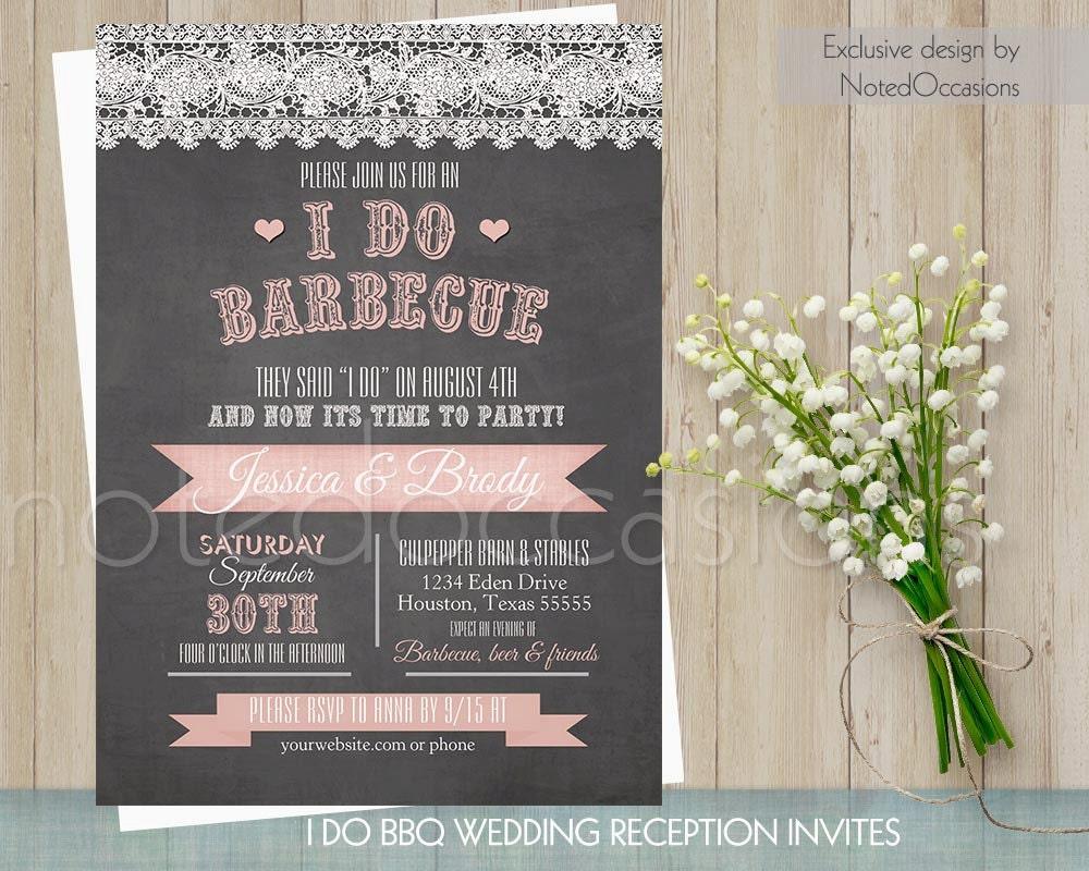 I Do Bbq Wedding Invitations 005 - I Do Bbq Wedding Invitations
