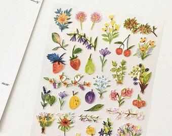 Floral Scrapbooking Stickers Die Cut Stickers Paper Deco Sticker Stamp