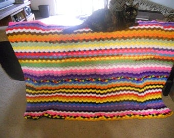Multicolored afghan