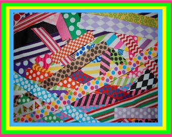10-50 Yards of 1/2 yard cuts of grosgrain Yummy Leftovers LOW shipping Cost