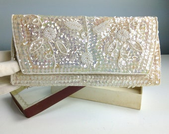 Vintage Beaded Clutch Purse by La Regale, 1940s Clutch, 1950s Clutch, Made in Japan