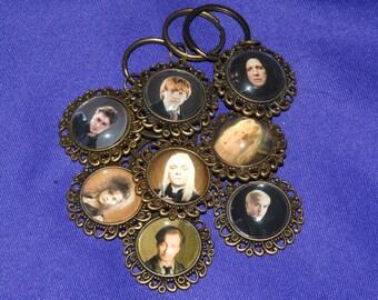Wizard Magic Inspired Keychain or Zipper Pull - Snape, Bellatrix, Lucius, Remus & More