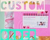 Custom Order 2 zippered purses