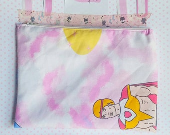Bow from SheRa vintage style cosmetic or pencil bag planner girl