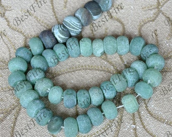 43beads  Green abacus Agate Beads ,agate stone beads loose strands,agate beads findings