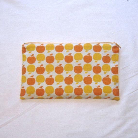 Apples Zipper Pouch / Pencil Case / Make Up Bag / Gadget Sack