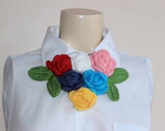 Rose Crochet necklace