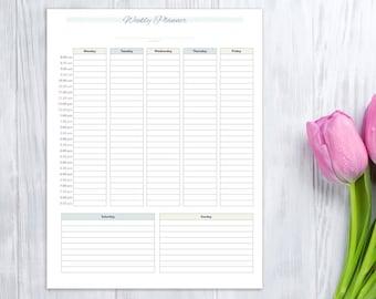 Weekly Planner, printable