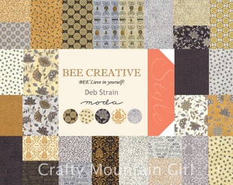 Bee Creative Fat Quarter Bundle by Deb Strain for Moda Fabrics