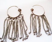 Bedouin Earrings, Tribal Hoop Earrings, Bedouin Jewelry, Arabian Peninsula, Large Ethnic Earrings, Tribal Jewelry, Ethnic Jewelry