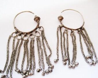 Bedouin Earrings, Tribal Hoop Earrings, Bedouin Jewelry, Arabian Peninsula, Large Ethnic Earrings, Tribal Jewelry, Ethnic Jewelry