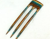 Reserved for Carolin Three Prong Hair Fork made from Earth & Sky DymondWood-  Very durable. Water resistant.