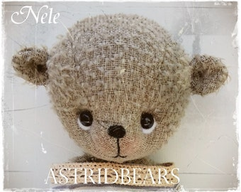 bear pattern Nele 7 inch artist bear Digital Download animals artist teddybear patterns