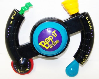 Vintage Bop It Extreme Push and Pull Game by Hasbro 1990s Toy