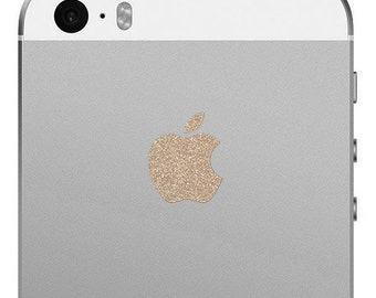 iPhone 5S and iPhone SE Sparkling Gold Logo Decal