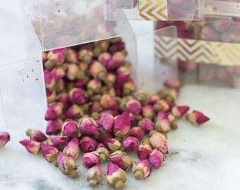Tea Favor - Organic Rosebud Herbal Tea - tea for two, bridal shower, tea pot tea party, wedding favor, bridesmaid gift, sorority ceremony