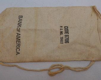 Vintage Bank of America Money Bag