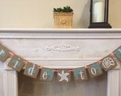 Bride To Be Banner | Bridal Shower Beach Wedding | Wedding Sign | White Starfish | White Seashell | Natural Wedding | Rustic Wedding