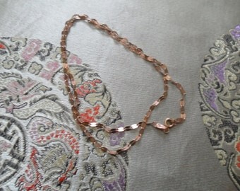Vintage Rose Gold Vermeil Sterling Silver 18 Inch Necklace