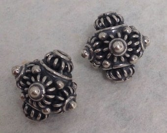 New 2 Sterling Silver Bead - Extremely Ornate -   Spire Bead - Large Sterling Point -  11.2mm - MB321