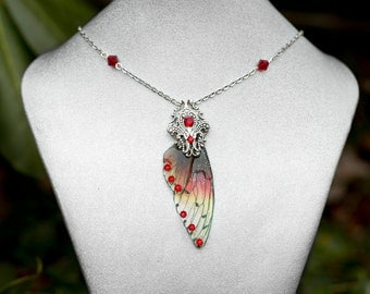 Banshee Fairy wing Necklace Silver