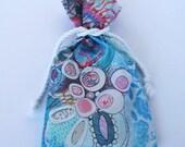 Original Designer Fabric Wrap Bag for Oracle Cards - Aquatic Soul Dance - Limited Edition