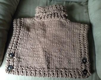 Cozy Knit Poncho, size 2, 3/4, or 5/7.