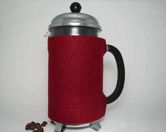 "French Press ""Bean Belt"" Coffee Cozy -  8-cup (34oz, 1.0L)"