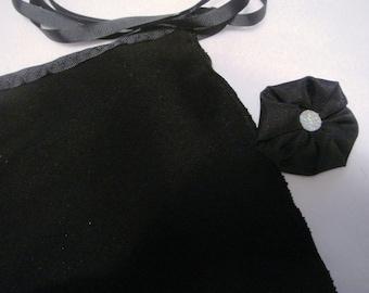 "14"" Black Wuji Peachskin Adult Ballet Wrap Skirt"