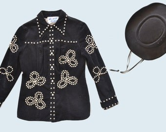 1970s Studded Corduroy Western Jacket size S
