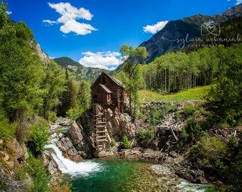 Crystal Mill Landscape Photography NaturePhotography Mountain Photography Clouds Colorado home decor Fine Art Photography Print