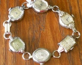 Vintage Watches Bracelet in Silver Tones, OOAK, Repurpose, Recycle, Upcycle
