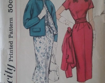 1950's Simplicity 2387 Sewing Pattern Size 20 1/2