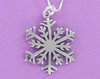 Snowflake Sterling Silver 925 Pendant Christmas Holiday Winter