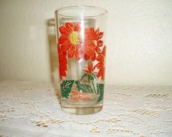 Mexican Sunflower Peanut Butter Glass