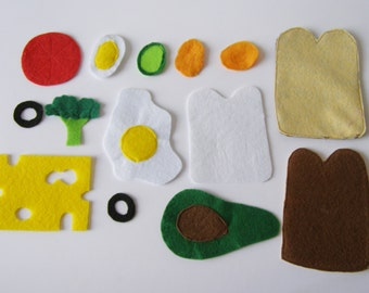 Making a Sandwich Quiet Book Page / Toddler Quiet Book / Personalized Quiet Book / Felt Activity Book / Sensory Toy / Fine Motor Skills /