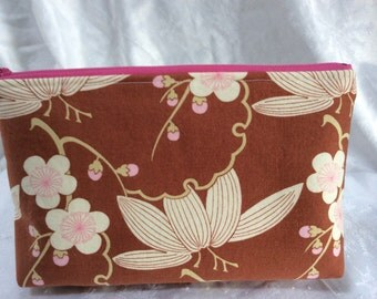 Amy Butler Print Cosmetic Makeup Bag