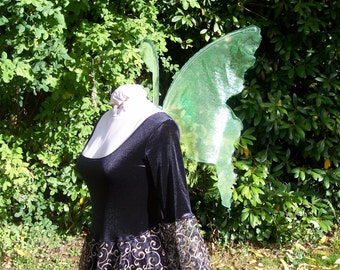 GREEN Mint Absinthe PIXIE FAiRY WiNGS Rave festival Renaissance Halloween sexy cute costume xs adult child Gypsy dress up elf elven queen s