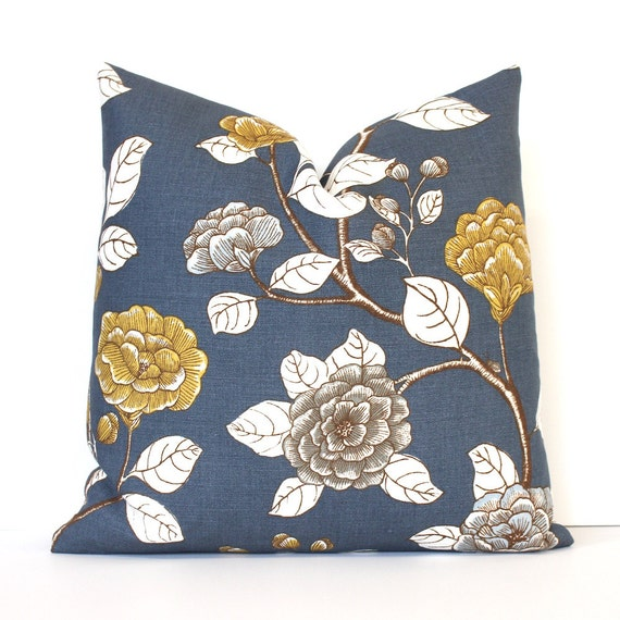 Items Similar To Slate Blue Floral Decorative Designer