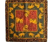 Vintage 90's Leopard/Cheetah Print Handkerchief / Bandana Retro Hip Unisex Adults