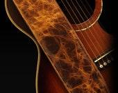 Distressed Guitar Strap, Brown Guitar Strap:  Durango Gold Guitar Strap