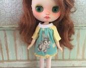 SALE Blythe Middie Smock Dress - Kawaii Bunny
