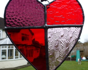 Valentine Love Stained Glass Heart Light Catcheru MTO