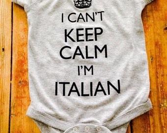 Italian Onesie®~Italian Shirt~Italy Onesie®~Italy shirt~Italian Baby Shower~Italian Stallion~Italiano~Bambino~Bambina~Italian Shirt~Italian