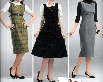 Simplicity 3673 Retro Vintage 1950's Dress or Jumper Pattern UNCUT Size 6, 8, 10, 12 and 14