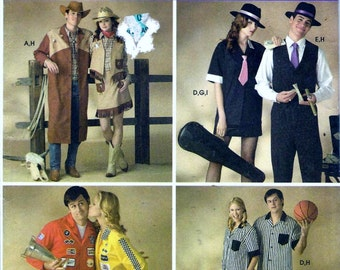 Simplicity 3683 Gangster Bonnie & Clyde Mob Western Ref Racer Adult Costume Sewing Pattern UNCUT Size XS, S, M, L and XL